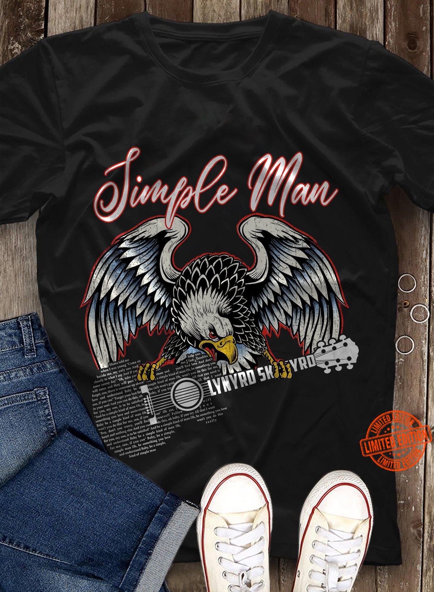 Lynyrd Skynyrd Simple Man Eagle Guitar Shirt