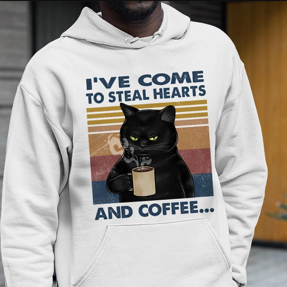 Black Cat And Coffee Shirt