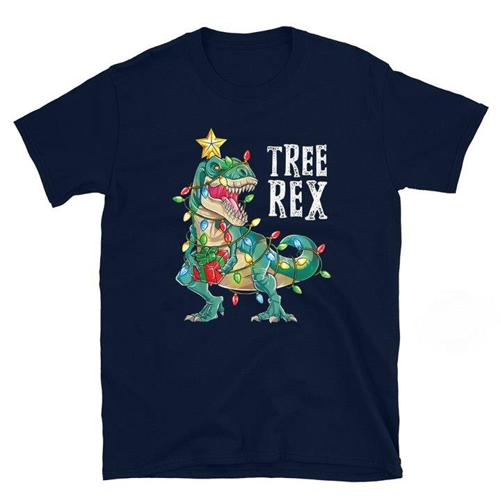Christmas Dinosaur Tree Rex Shirt