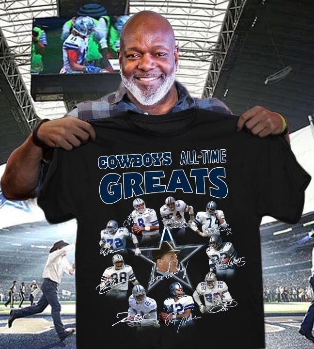 Cowboys All Time Greats And Members Signature Shirt