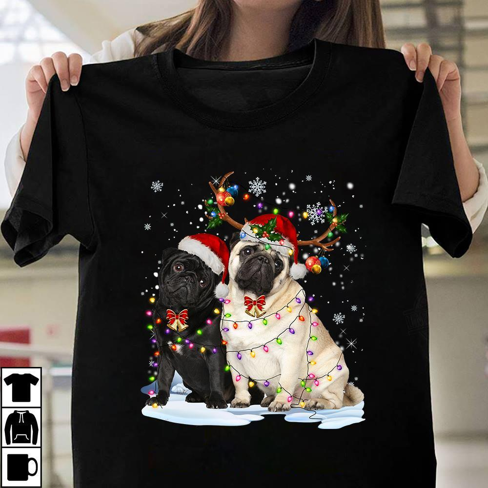 Merry Christmas With Two Dogs Shirt