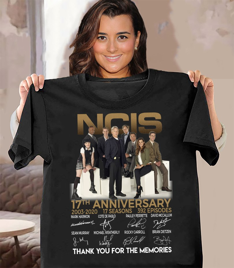 NCIS 17th Anniversary 2003 - 2020 Thank You For The Memories And Members Signature Shirt