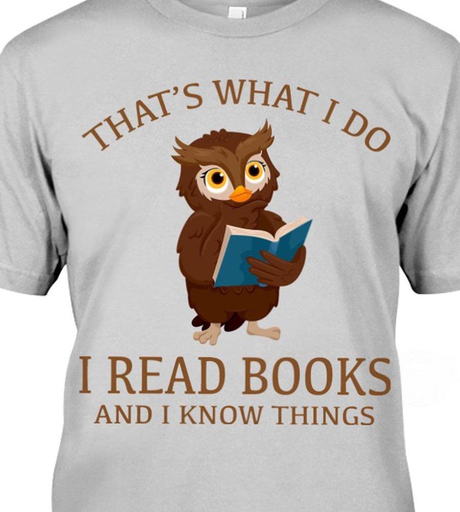 OWL - I READ BOOKS Shirt