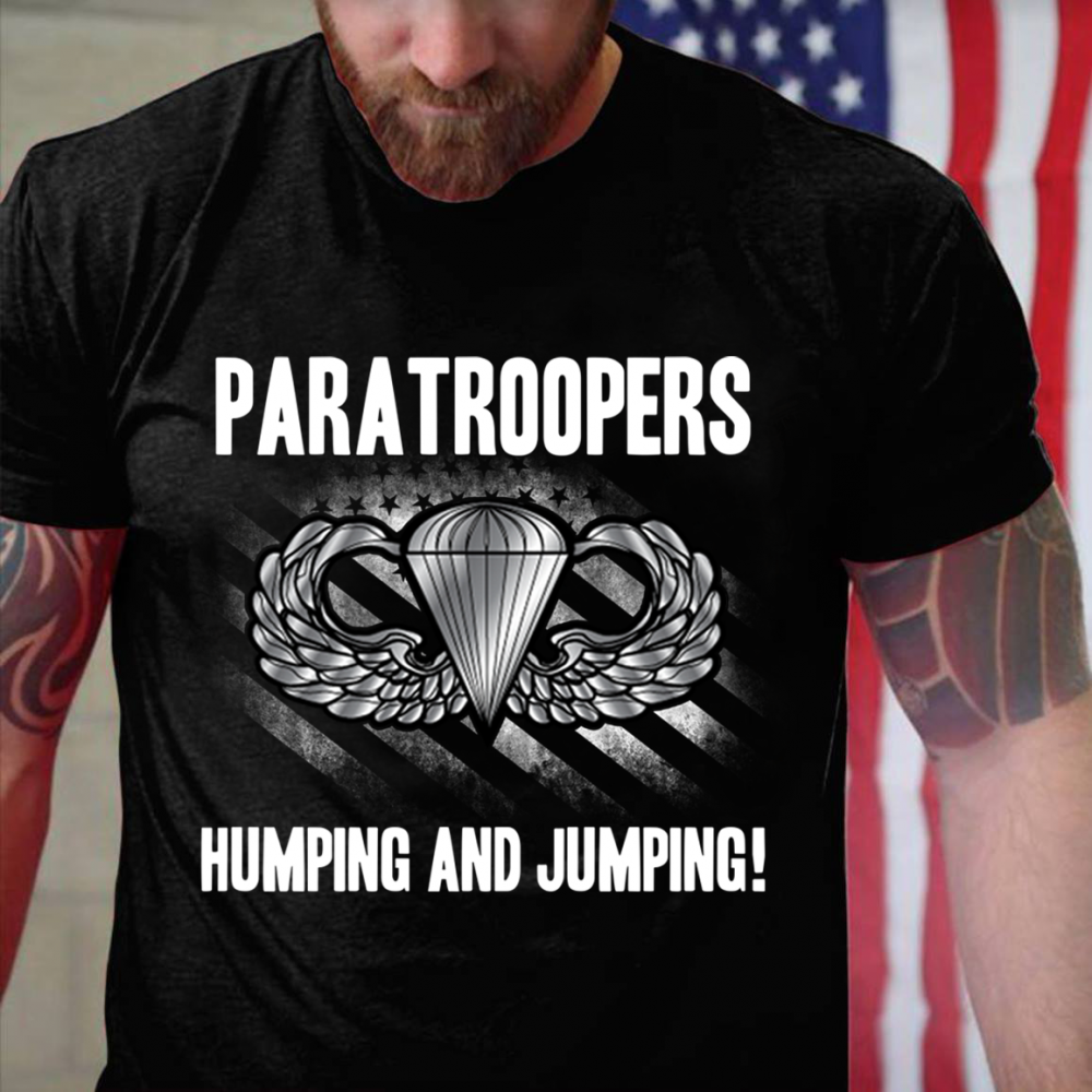 Paratroopers Humping And Jumping Shirt