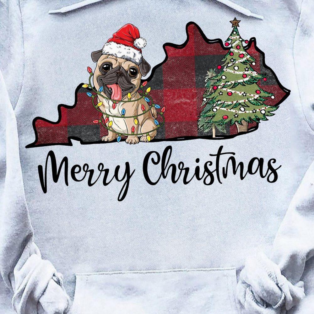 Pug Light And Merry Christmas Shirt