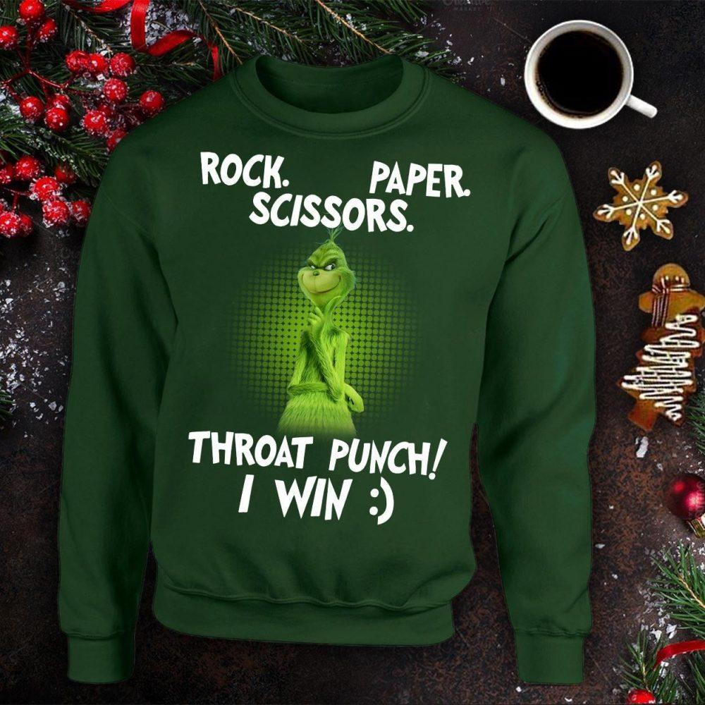 Rock Paper Scissors Throat Punch I Win Shirt