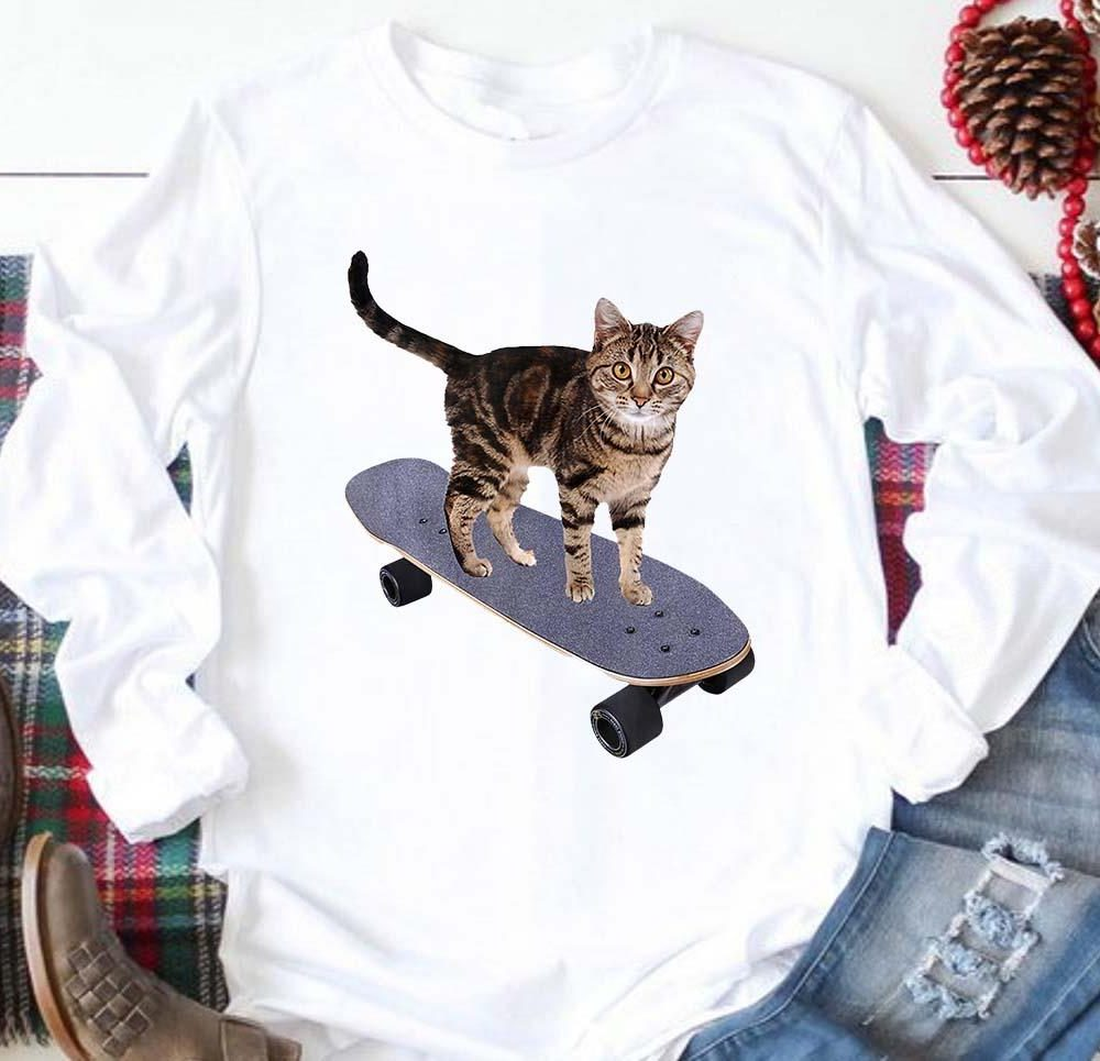 Skateboard Cat Shirt