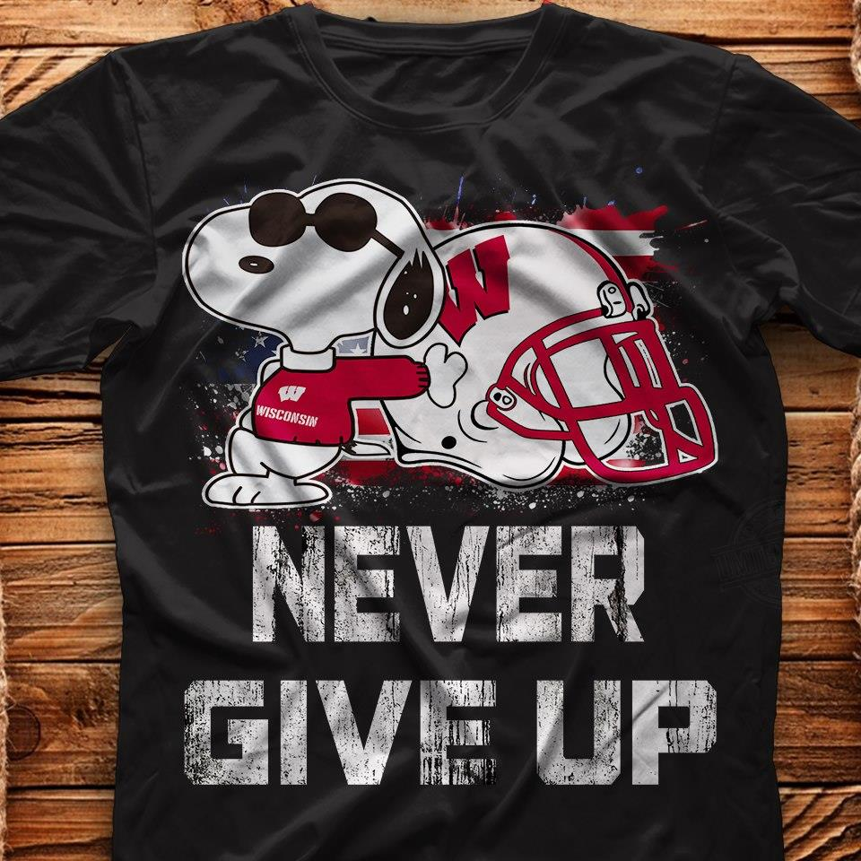 Snoopy Dog Never Give Up Shirt