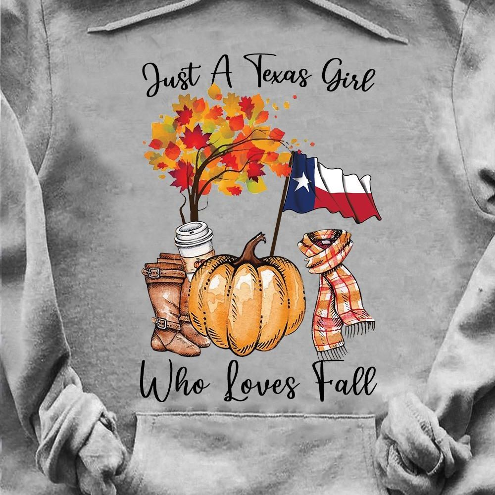 Texas Girl Loves Fall Shirt