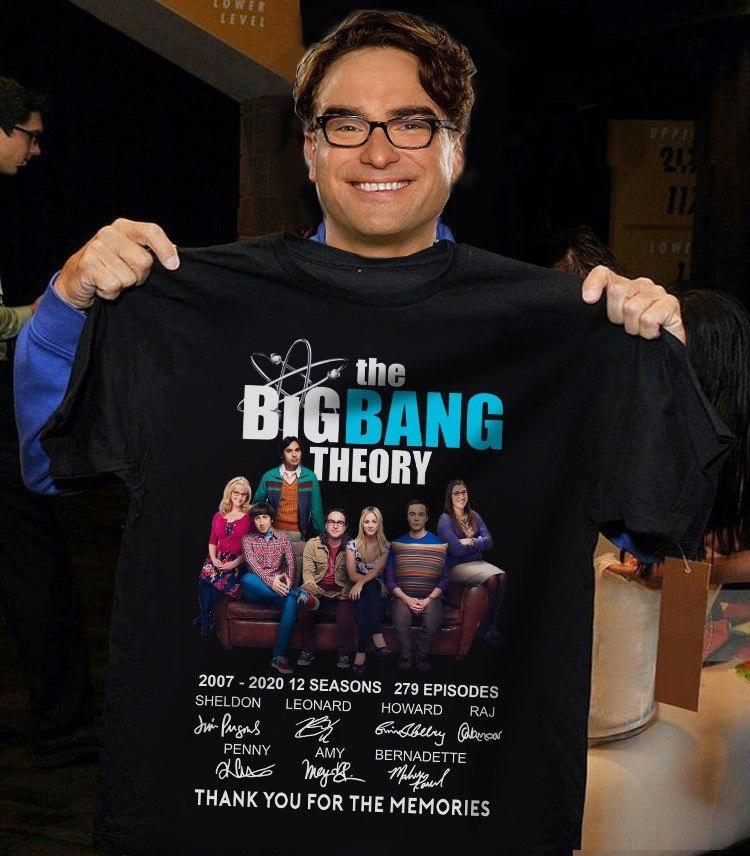 The Big Bang Theory Members Signature And Thank You For The Memories Shirt