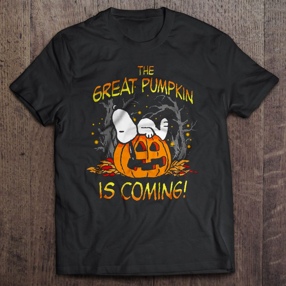 The Great Pumpkin Is Coming - Snoopy Halloween Shirt