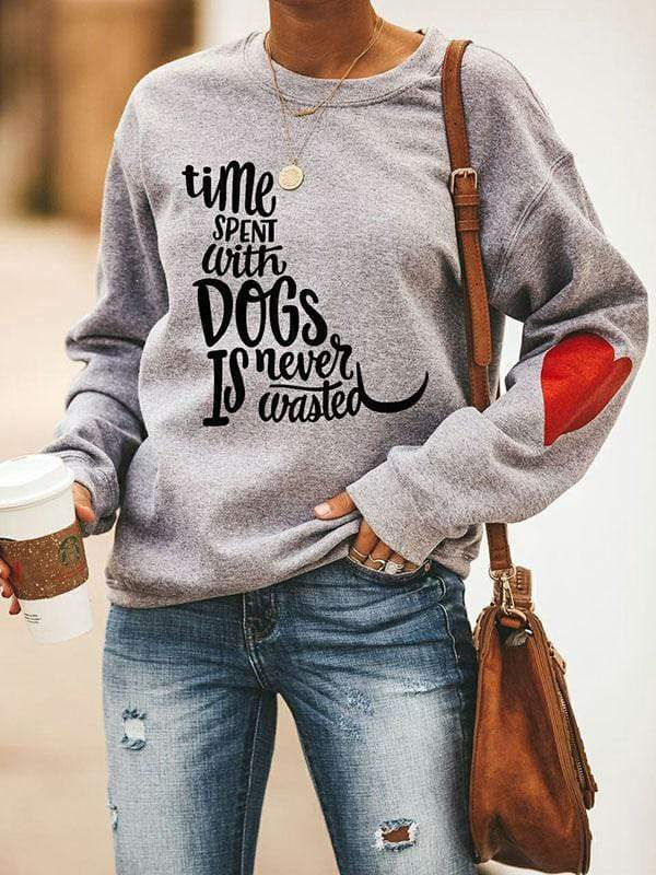 Time Spent With Dogs Is Never Wasted Shirt