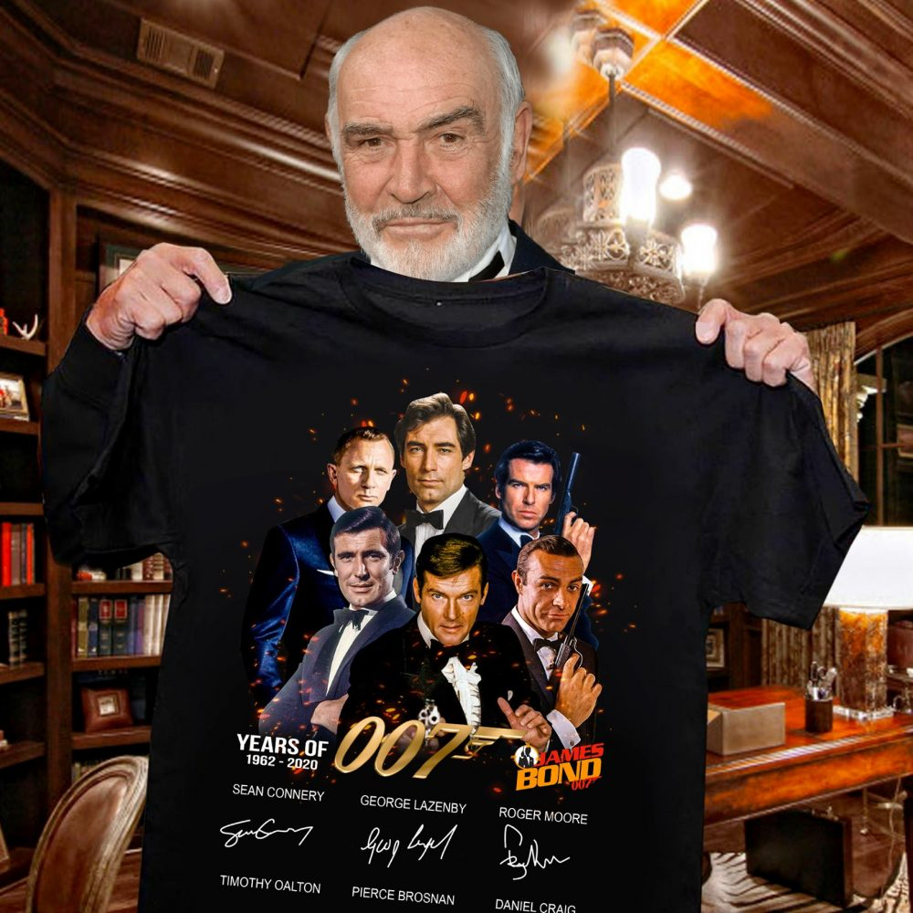 Years Of 007 1962 - 2020 And Characters Signatures Shirt