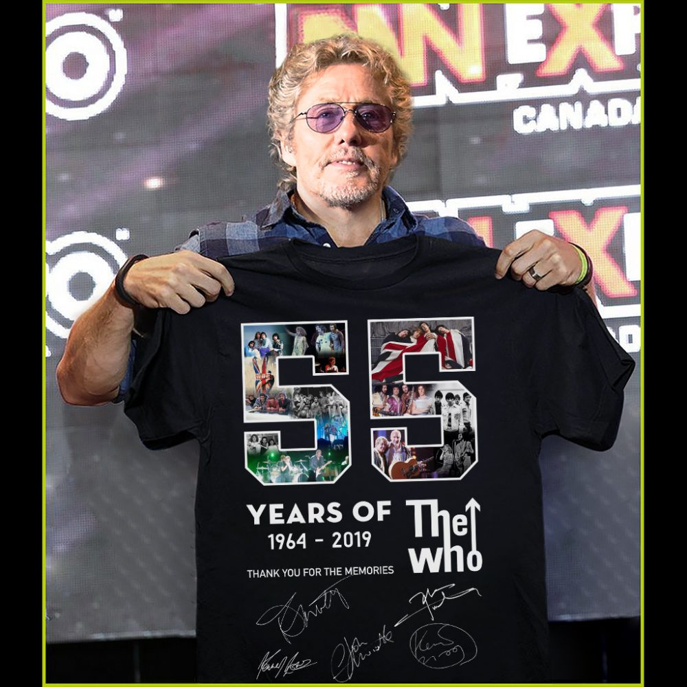 Years Of The Who 1964 - 2019 And Signatures Thank You For The Memories Shirt